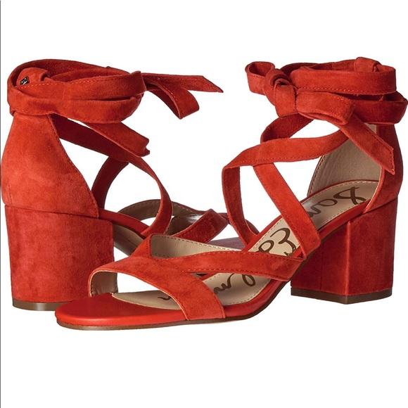 53fe1f31650 Sam Edelman Sheri suede sandal in red. M 5c0ca9a5619745748ec999e2